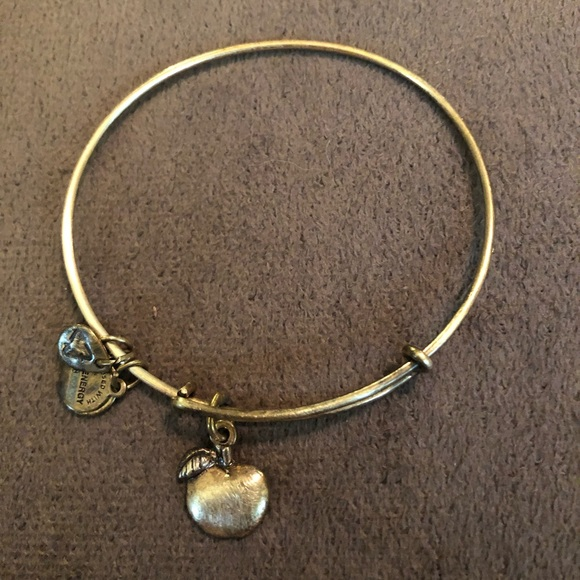2a098f81b2dbe Alex and Ani Silver Teacher Apple Bracelet